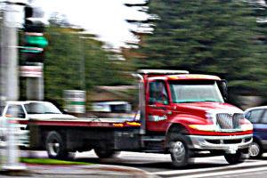 camion de remorquage à plateforme